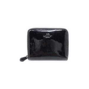 Coach Black Sparkle Bi-Fold zip Wallet